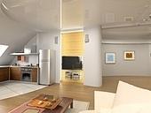 modern interior design (computer generated image 3D)