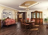 luxury classic - style interior of living room (3D rendering)