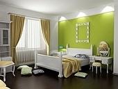 modern bedroom interior in classic style (3D rendering)