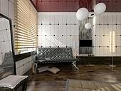 modern  interior design (computer - generated image)