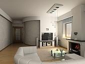 modern luxury living room (3D)