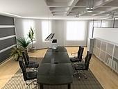 the modern office interior (3D rendering)