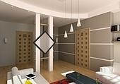 modern living room interior (3D rendering)