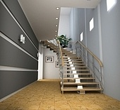 modern interior with stair (computer generated image)