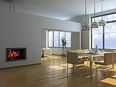 modern interior (3D rendering)