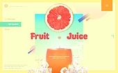 쥬스, 과일, 음료, 자몽
