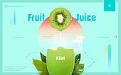 쥬스, 과일, 음료, 키위