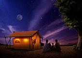 캠핑, 자연풍경, 휴식