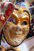 Typical colorful mask from the venice carnival, Venice, Italy