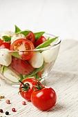 Tomatoes and Salad Caprese