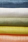 Folded colorful fabrics