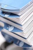 서류정리, 파일, 색인카드, 산더미, 경쟁, 비즈니스