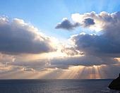 구름, 하늘 풍경 백그라운드