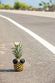 Pineapple with sunglasses
