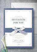 초대장, 편지, 축하, 이벤트
