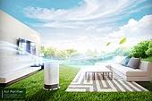 공기청정기, 깨끗함, 리프레시, 대기오염, 사물인터넷