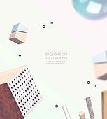 백그라운드, 패턴, 3D, 오브젝트