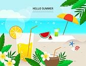 여름 바캉스 바다 백그라운드
