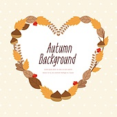 가을 낙엽 백그라운드 일러스트