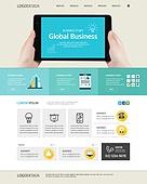 글로벌비즈니스 웹템플릿 유저인터페이스 웹사이트
