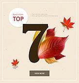 가을, 배너 세일, 단풍잎