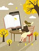 가을, 독서, 라이프스타일, 책