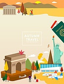 가을, 이벤트, 여행