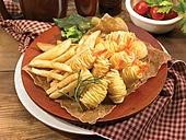 감자말이새우튀김