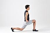 한국인, 근육풀기 (신체활동), 워밍업 (운동), 근육질 (Human Build), 런지