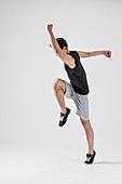 한국인, 달리는 (신체활동), 활력 (컨셉), 근육질 (Human Build)