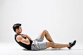 한국인, 웨이트트레이닝 (근육강화운동), 근육질 (Human Build), 윗몸일으키기 (근육강화운동)
