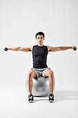 한국인, 웨이트트레이닝 (근육강화운동), 근육질 (Human Build), 짐볼, 아령 (웨이트)