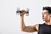 한국인, 웨이트트레이닝 (근육강화운동), 근육질 (Human Build), 아령 (웨이트), 근육강화운동