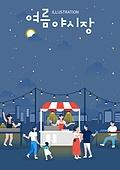 축제, 밤중 (사건), 포스터, 팝업, 시장 (상점)