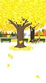 가을, 은행나무 (낙엽수), 공원