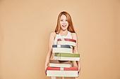 한국인, 여성 (성별), 선물 (인조물건), 웃음