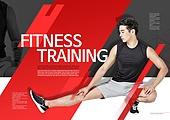 한국인, 브로슈어 (템플릿), 운동 (스포츠), 스포츠트레이닝 (연습), 20대남자, 다리벌리기 (스트레칭)