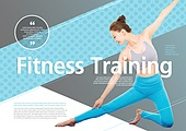 한국인, 브로슈어 (템플릿), 운동 (스포츠), 스포츠트레이닝 (연습), 필라테스 (이완운동), 여성