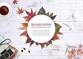 브로슈어 (템플릿), 가을, 프레임, 단풍 (가을), 커피 (뜨거운음료)