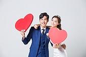 한국인, 남성, 여성, 누끼, 결혼, 웨딩드레스 (드레스), 예복, 하트, 사랑 (컨셉), 미소, 행복