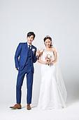 한국인, 결혼, 신랑, 신부 (결혼식역할), 웨딩드레스 (드레스), 행복, 웃음, 대만족 (컨셉)