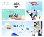 한국인, 웹배너 (배너), 여행, 휴가, 여행사