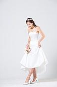 한국인, 신부 (결혼식역할), 웨딩드레스, 결혼, 미소, 대만족 (컨셉)