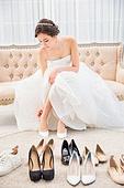 한국인, 신부 (결혼식역할), 웨딩드레스, 결혼, 구두 (신발)