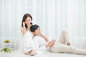 한국인, 신랑, 신부 (결혼식역할), 결혼, 웨딩드레스, 미소