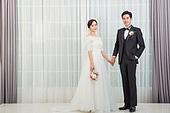 한국인, 신랑, 신부 (결혼식역할), 결혼, 결혼식, 웨딩드레스, 사랑 (컨셉), 행복, 미소