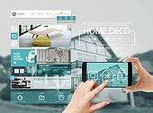 모바일템플릿, 스마트폰, UI KIT, 인테리어, 실내디자인, 집안 (주택)