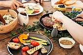 로스트 (요리), 식사, 요리 (음식상태), 저녁식사, 사람손 (몸)
