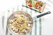 봉골레 (스파게티), 스파게티, 요리 (음식상태), 음식, 요리하기, 탑앵글