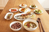 한국음식 (아시아음식), 식사, 고등어구이 (생선구이), 반찬, 밥상, 밥 (음식)